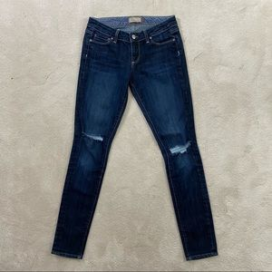 Paige Women's Jeans Blue Heights Low Rise Skinny
